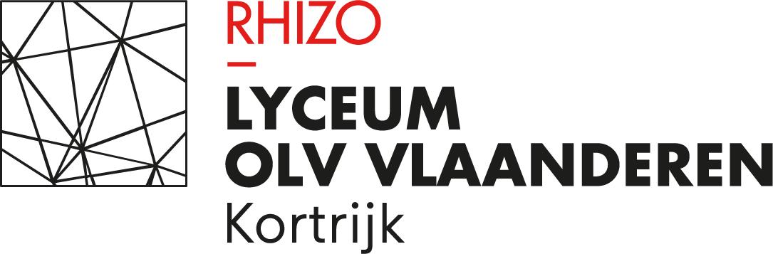 Logo RHIZO Lyceum OLV Vlaanderen Kortrijk