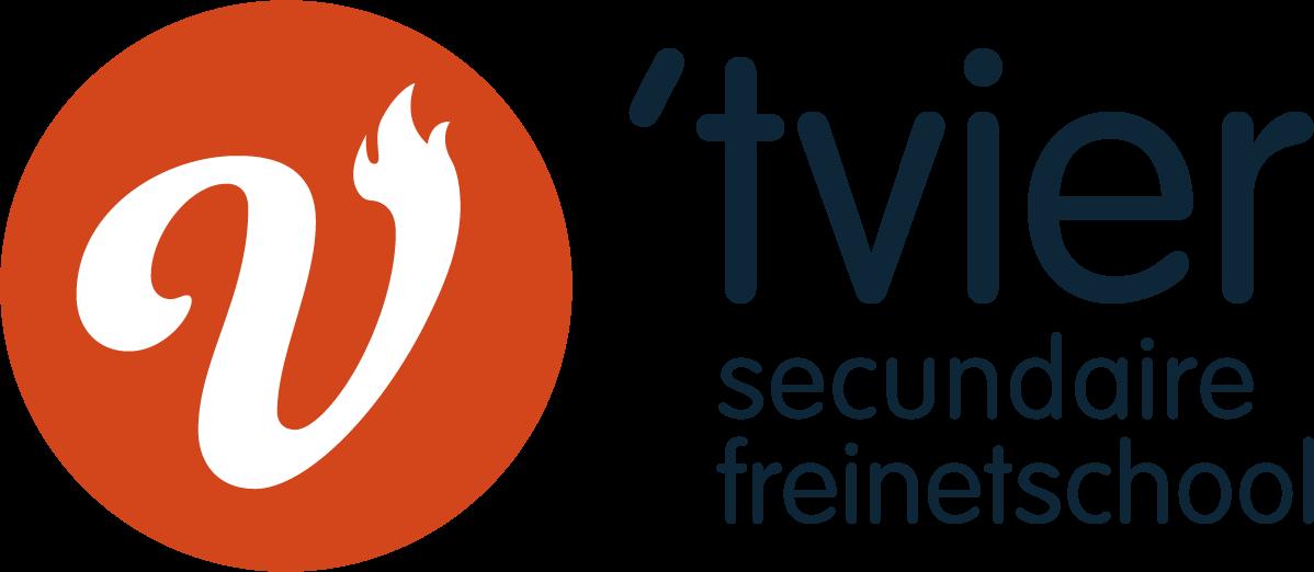 Logo Secundaire freinetschool 'tvier Kortrijk